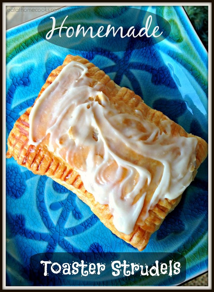Homemade Toaster Strudels {quick and easy} with puff pastry, pie filling & cream cheese glaze