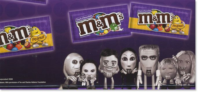 The Addams Family™ Licensing - M's Dark Chocolate