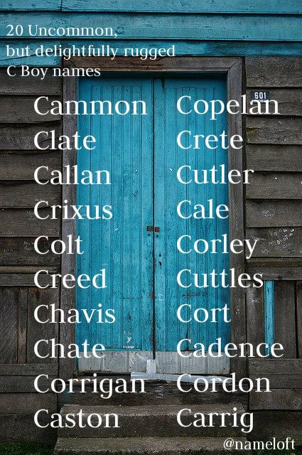 20 uncommon C names for boys!