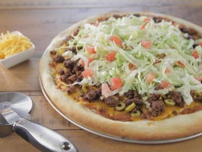 "Garth's Taco Pizza (Our Guys' Favorites!) - Trisha Yearwood, ""Trisha's Southern Kitchen"" on the Food Network."