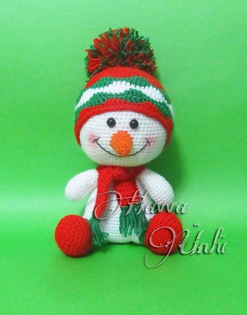 Ravelry: Carino pupazzo di neve decorazione di Natale pattern Havva Ünlü