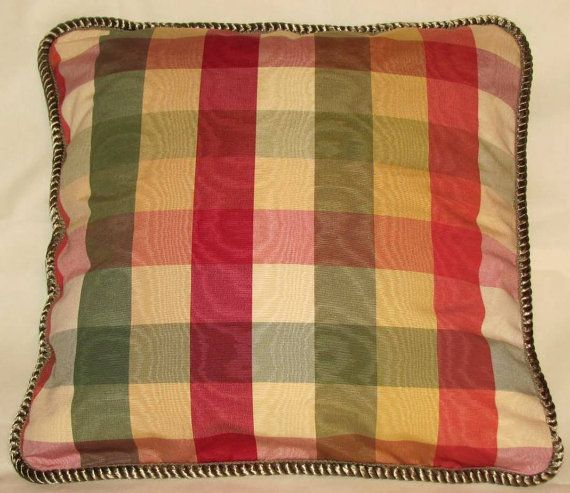 This Is A Richloom Moir 233 Plaid In Green Yellow Red And