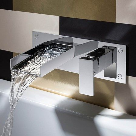 Exceptional Crosswater Water Square Wall Mounted Basin 2 Hole Set