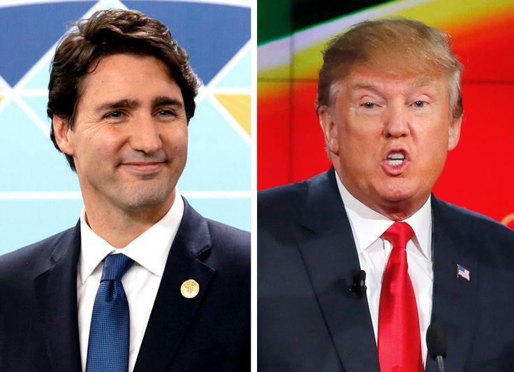 "Justin Trudeau and Donald Trump. "" Trudeau said during a live, year-end town hall hosted by Maclean's. ""If we allow politicians to succeed by scaring people, we don't actually end up any safer. Fear doesn't make us safer. It makes us weaker."""