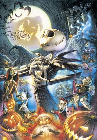 Disney/Tim Burton...Basically the exact picture I want on my sleeve! Minus Santa :) lol