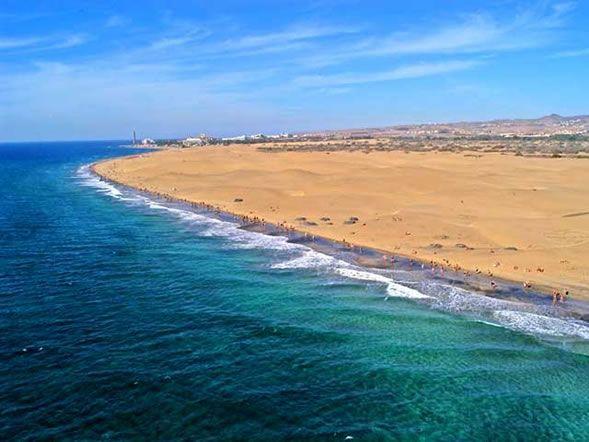 Foto Panoramica de la Playa de Maspalomas