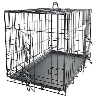 XXL Dog Crate Kennel Chew Resistant Extra Large 48 Inch Black Cage Pet Training
