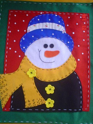 boneco de neve de natal em feltro - Pesquisa Google