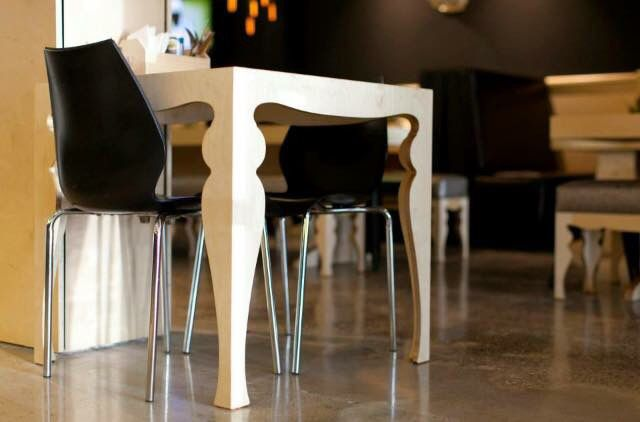 Cafe tables: Modern yet old school designed by Maverick Joinery