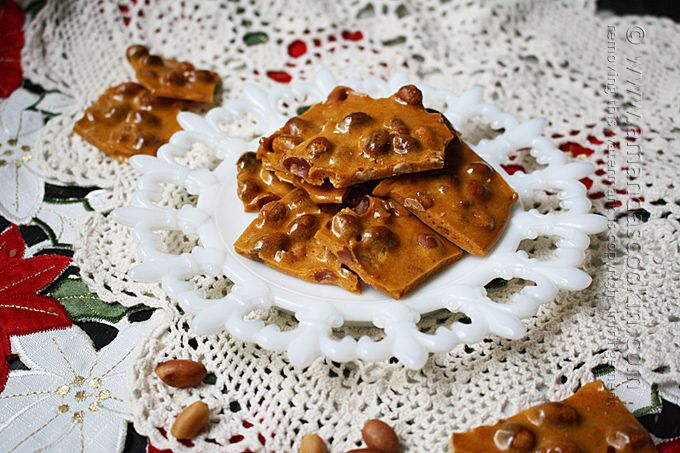 I've been making homemade peanut brittle since I was a young bride. Homemade peanut brittle was my very first attempt at using a candy thermometer.