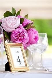 Gold Table Number Frames - Wedding Table Decorations