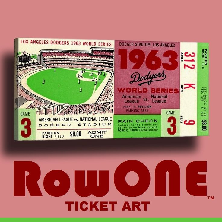 Row One Brand Vintage Sports Ticket Canvas Art And Retro Pillows Mugs Tees S Immense Collection Of Over