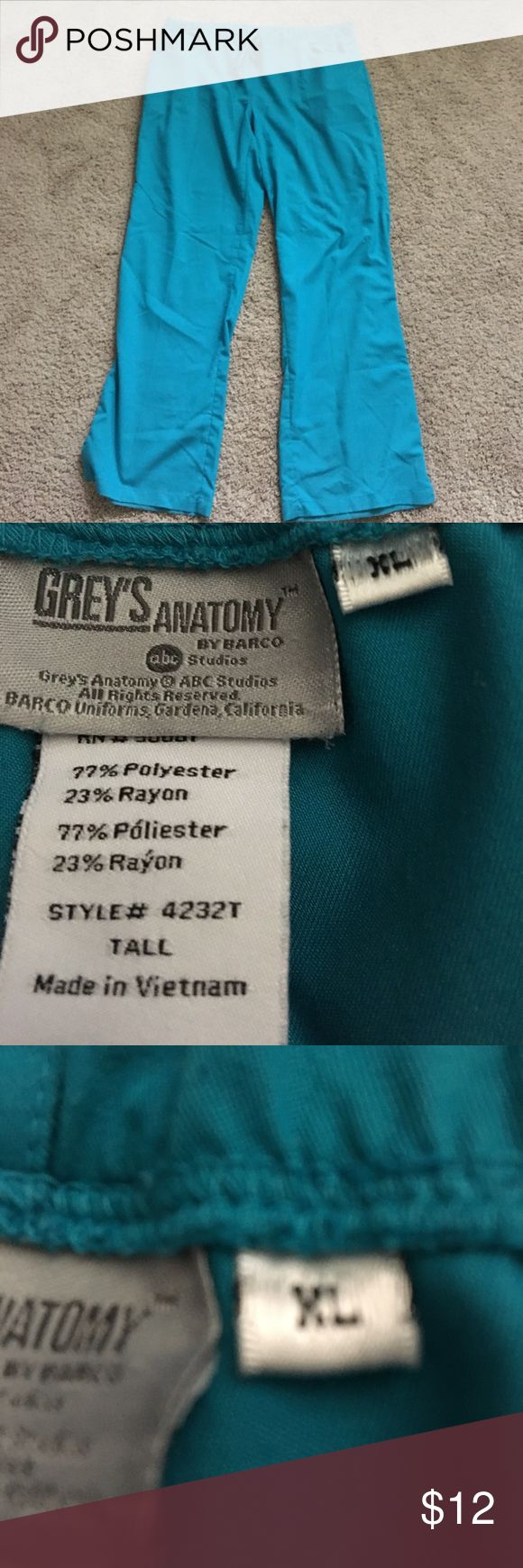 Grey's Anatomy size extra large tall scrub pants Grey's Anatomy size extra large tall scrub pants see my other scrubs  would like to bundle and save you money grey's Anatomy Pants
