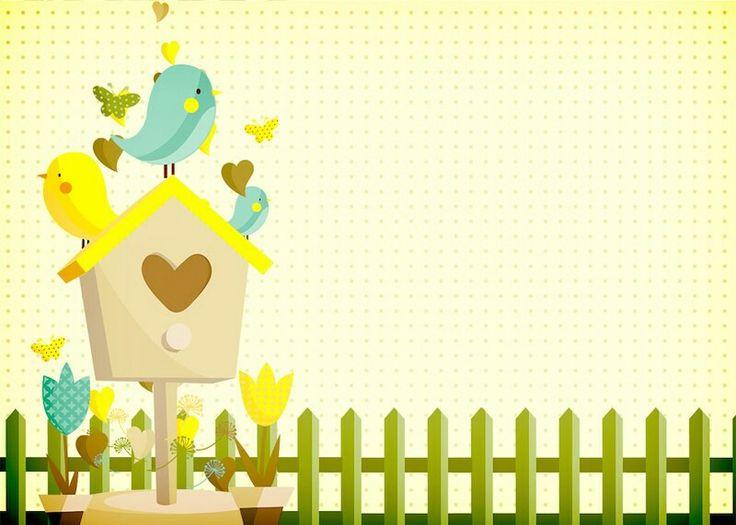 Invitación Jardin encantado, amarillo.