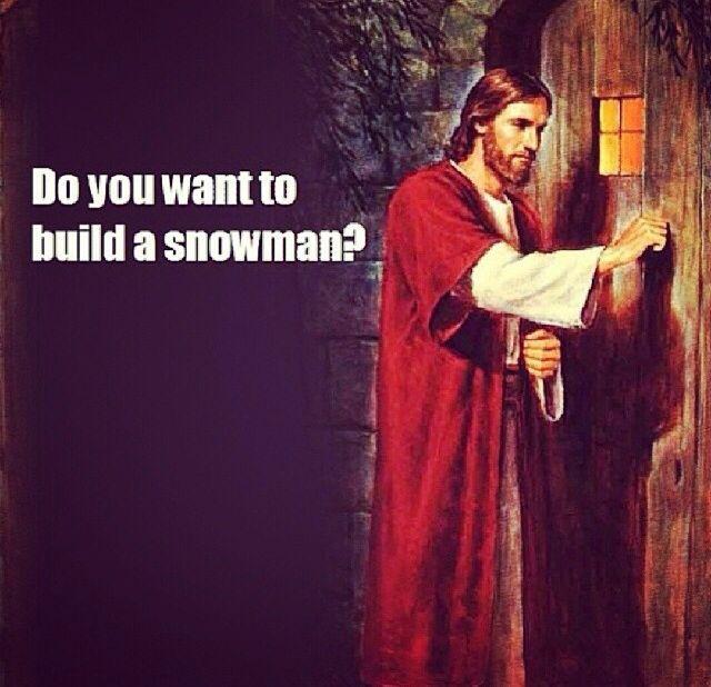 """""""Go away Jesus""""....""""okay bye"""". Do you want to build a ..."""