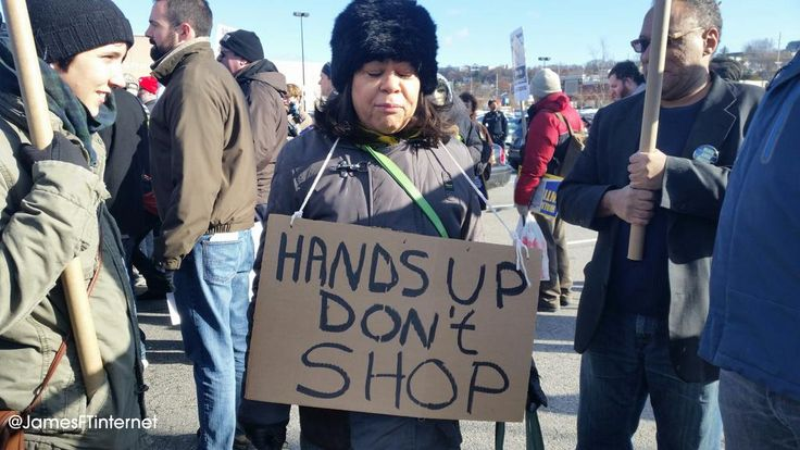 JamesFromTheInternet on Twitter ||  Hands up don't shop! #WalMart #BlackoutBlackFriday