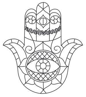Sketched Hamsa design (UTH10819) from UrbanThreads.com