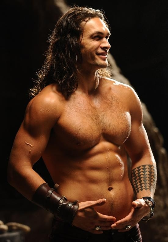 Jason Momoa. Get up and do something, but first follow. #fitness #FITQUOX  Wow, he is gorgeous.. Whew...