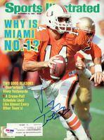Vinny Testaverde Autographed Magazine Cover Miami PSA/DNA