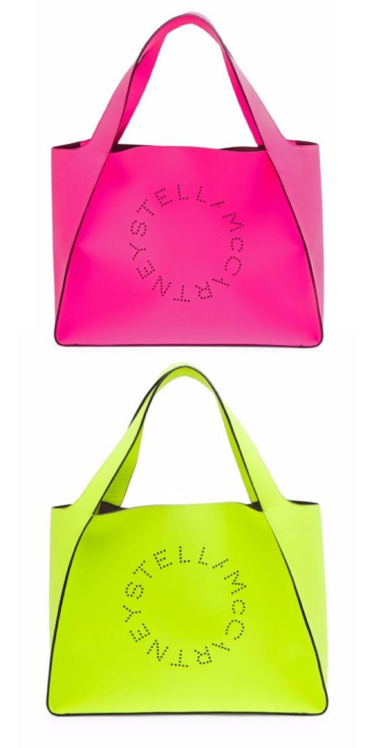 Pink or Yellow, how do I choose!  Faux Leather Boxy Fluorescent Tote Bag afflink