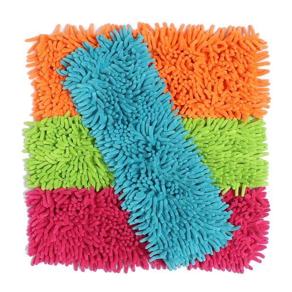 Trapeadores de microfibra chenilla prácticos reemplazo plana cabeza baja polvo recarga casa fregona hogar limpio