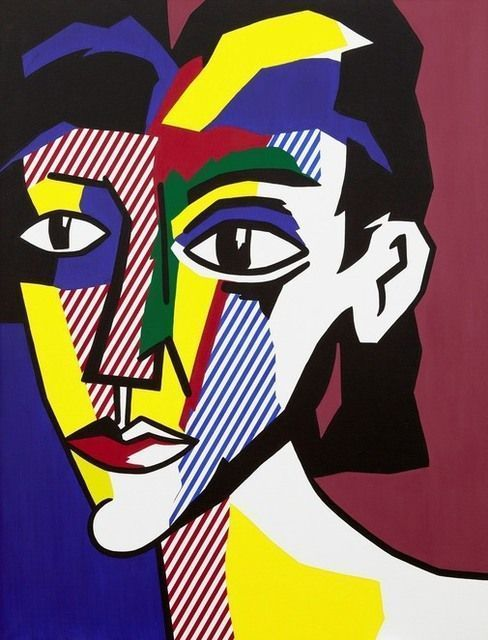 Portrait of a Woman by Roy Lichtenstein, 1979, oil and magna on canvas   Gagosian Gallery
