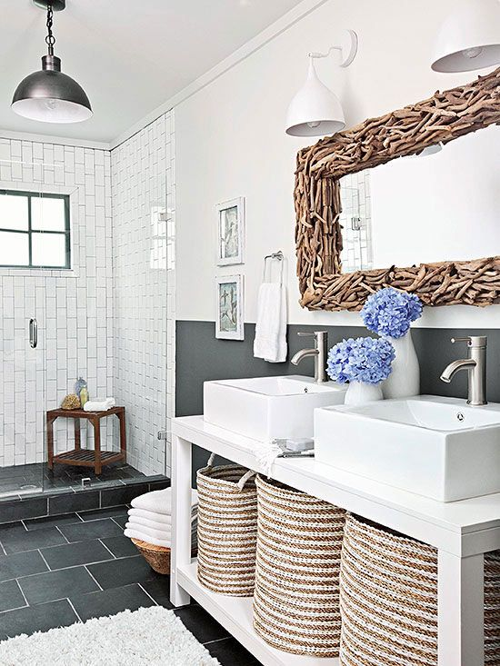 138 best our work images on pinterest dream kitchens for Contemporary rustic bathroom design