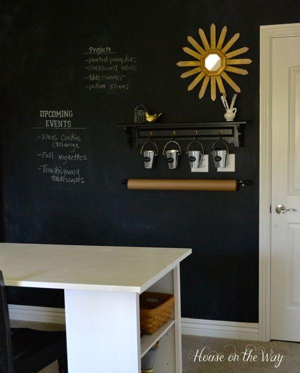 chalkboard wall - playroom
