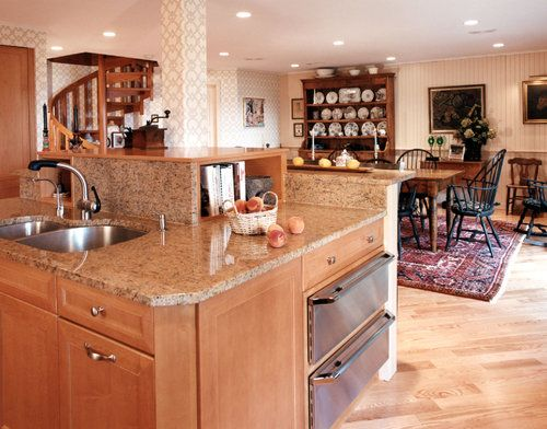 A two tier kitchen island more like 3 tier kitchen - Two tier kitchen island ...