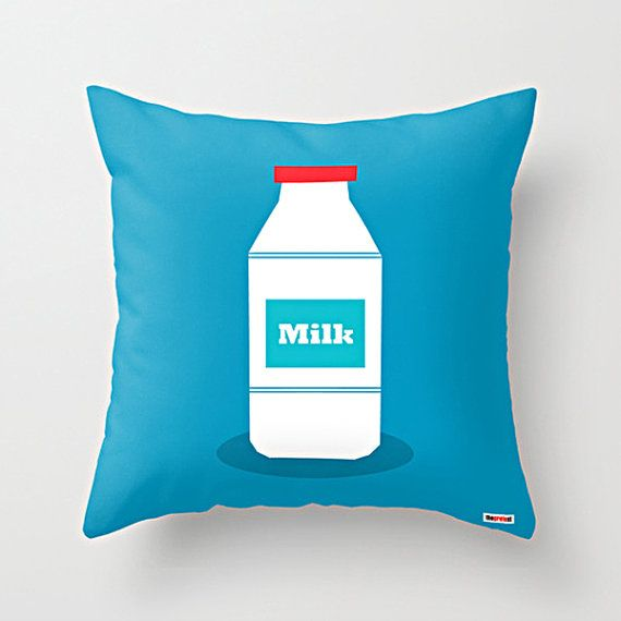 Scandinavian Design Throw Pillows : Milk Decorative throw pillow cover - Blue and Green pillow cover - Modern pillow cover ...