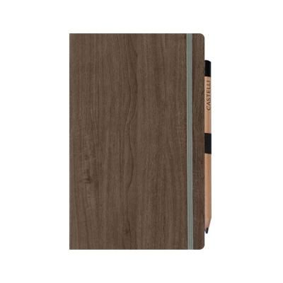Image of Promotional Castelli Acero Medium Ruled Notebook With Wood Grain Effect