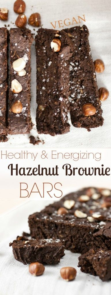 Produce On Parade I Healthy & Energizing Hazelnut Brownie Bars - These fudgy bars are reminiscent of brownies, not too sweet and packed full of healthy goodies. A nutritious energy bar that tastes like a brownie but boasts ample protein and complex carbs to keep you fueled throughout the day.