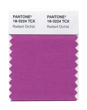 """Pantone's Spring 2014 colors. 8. Radiant Orchid, """"a bold counterpart to Violet Tulip"""""""