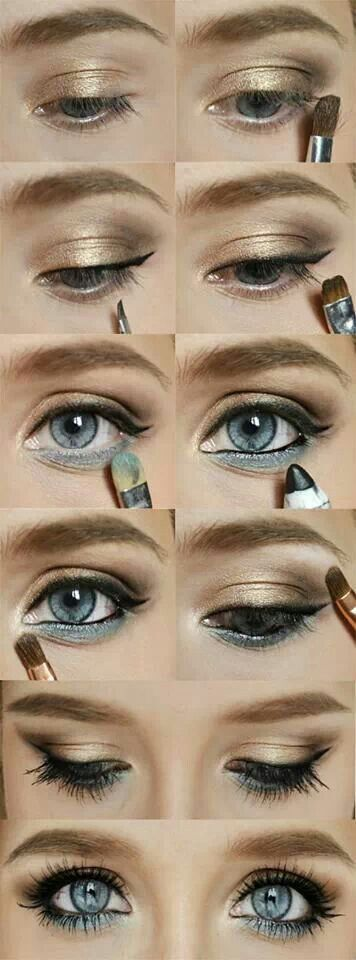 Blue/gold eyes