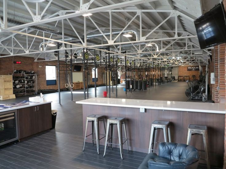 industrial gym cafe fit out ideas - Google Search