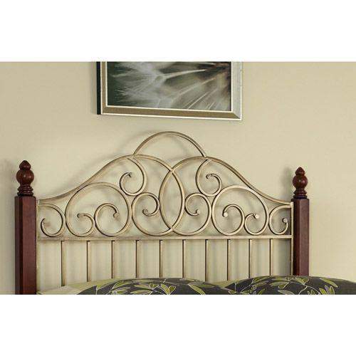 Home Styles St. Ives King/California King Headboard, Cinnamon/Cherry/Aged Gold: Furniture : Walmart.com $235.41