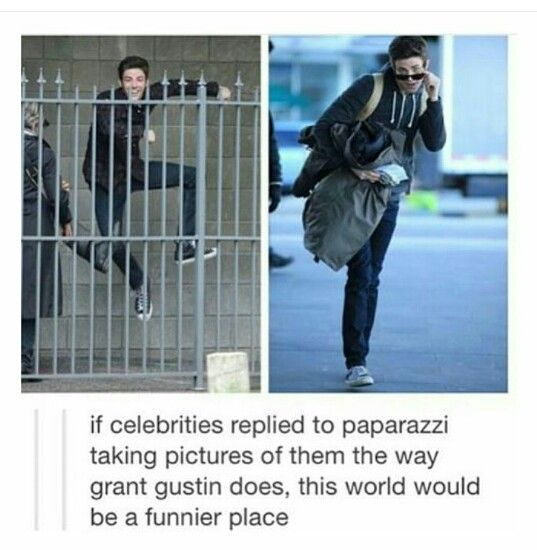 You know, Grant and Misha (Collins) should meet