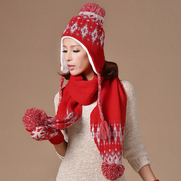 64 best winter hat scarf and gloves set for women images ...
