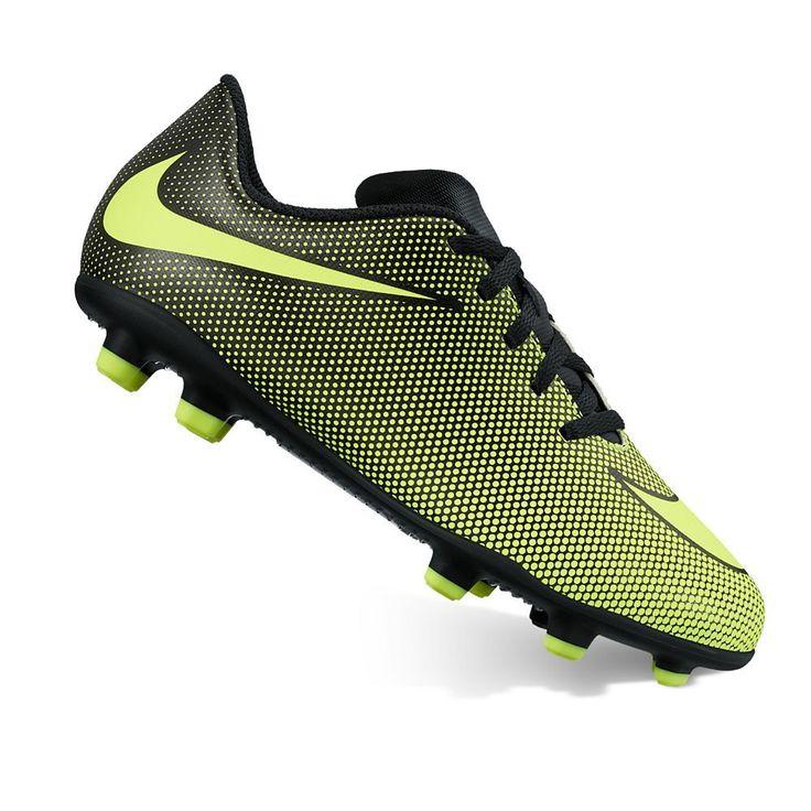 Nike Jr. Bravata II Kids' Firm-Ground Soccer Cleats, Kids Unisex, Size: 5.5, Grey Other