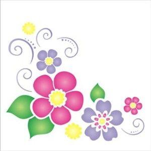Estencil-para-Pintura-Simples-14x14-Cantoneira-Flores-III-OPA1136---Opa-
