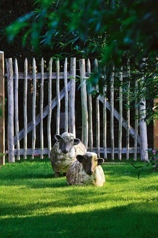 stone sheep for your country garden