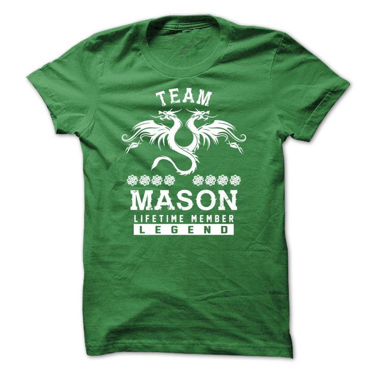 MASON Life Time Member T-Shirts, Hoodies. BUY IT NOW ==► https://www.sunfrog.com/Names/[SPECIAL]-MASON-Life-time-member-Green-50431130-Guys.html?id=41382