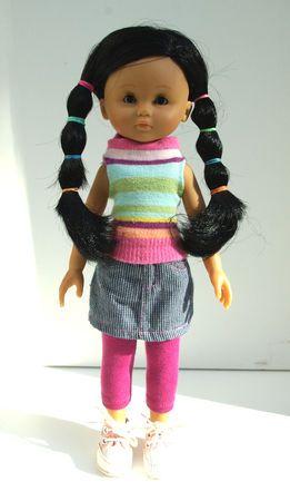 Voici un petit tuto pour ces habits de poupée récup'