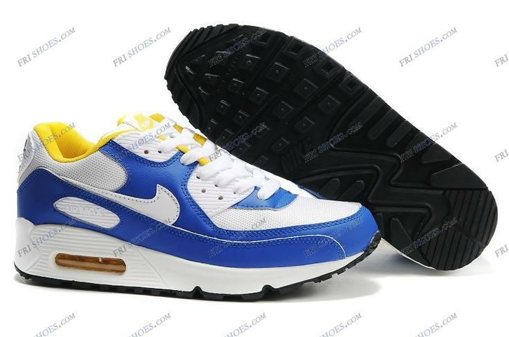 Mens Nike Air Max 90 Shoes White Blue Yellow nike shoes australia Regular Price: $198.00 Special Price $95.89 Free Shipping with DHL or EMS(about 5-9 days to be your door).  Buy Shoes Get Socks Free.