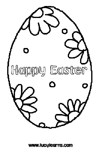 Easter Egg Coloring Page!!