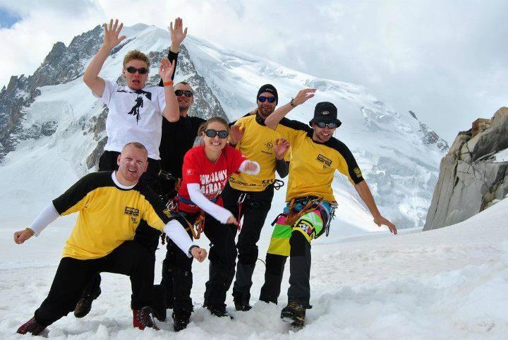 Nasi Patrolowcy (Oprycha, Maw, Michał, Jasiek i Mały) wdrapali się na Mont Blanc, czyli na 4810,45 m n.p.m.!