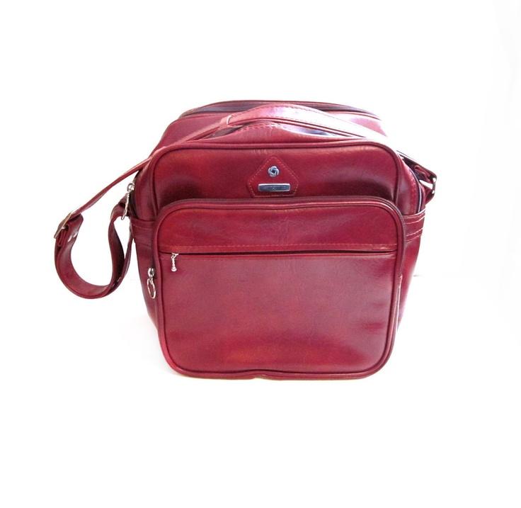 Vintage Samsonite Carry On Luggage Tote Bag.