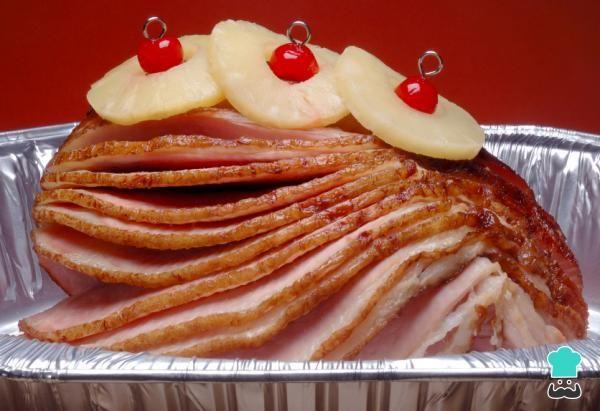 Jamón Horneado Con Piña Fácil Y Muy Navideño Recipe Cooked Pineapple Baked Ham Ham Glaze