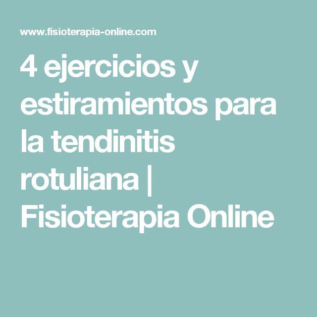 4 ejercicios y estiramientos para la tendinitis rotuliana | Fisioterapia Online
