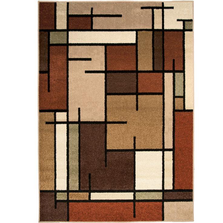 allen roth addington brown rectangular indoor woven area rug common 8 x 10 - Area Carpets
